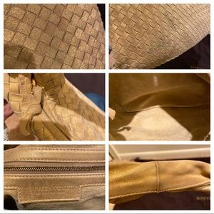 Bottega Veneta Bags - Bottega Veneta Gold Woven Shimmer Hobo Bag Purse
